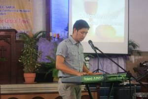 "One of the things i missed here- to play keyboard. Here, I played keyboard while singing ""Sayo"" by Silent Sanctuary."